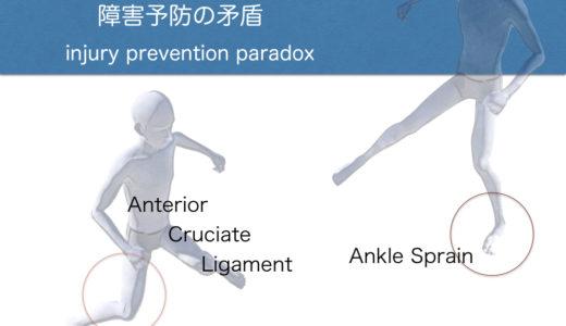 障害予防の矛盾(膝靭帯損傷と足関節捻挫)