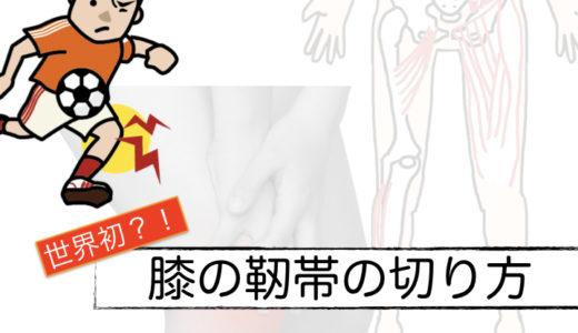 世界初?!膝の靭帯を自分で切る方法